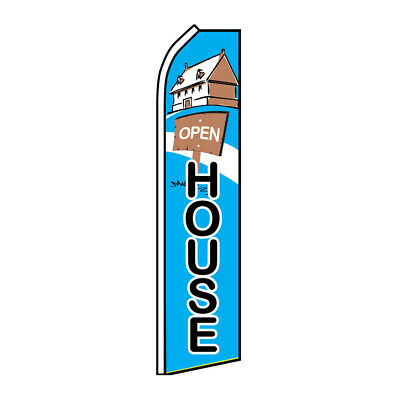 Open House Advertising Flag Swooper Feather Super Real Estate Realty Flag