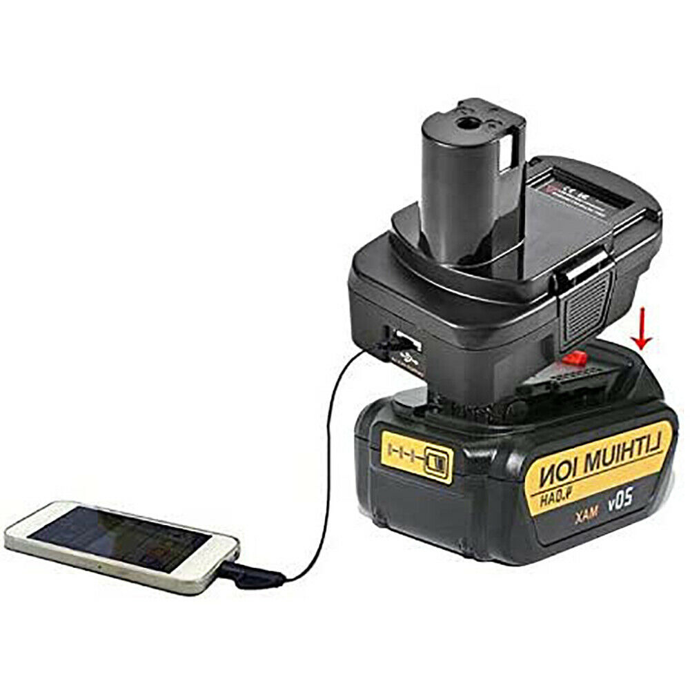 Details about  /NEW USB Battery Adapter For Black/&Decker Stanley Porter Cable to RYOBI 18V Tools