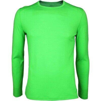 Mens XL Icebreaker 100% Merino Wool Balsam Bodyfit Baselayer Top Extra Large New