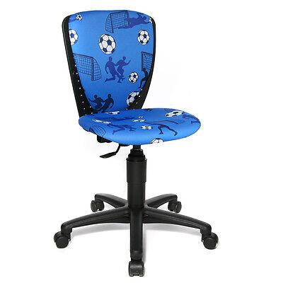 Kinder Schreibtisch Stuhl Büro Drehstuhl Topstar S´cool Fussball blau 2.Wahl