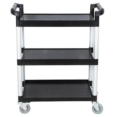 3 Shelf Plastic Utility Cart - Med-Resource Medical Plastic 3 Shelf Utility Cart (Color: Black)