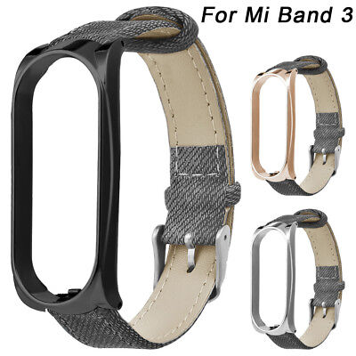 Denim-armband (Denim Armband Uhrenarmband Ersatz Strap & Metall Case für Xiaomi Mi Band 3)