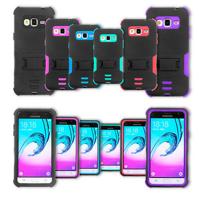Talking Stand - For Straight Talk Samsung Galaxy Luna J1 Rugged Armor Hybrid Stand Cover Case