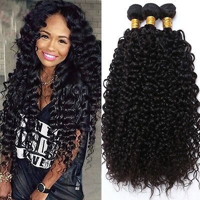 100/300g Best Bundle REMY Virgin Human Hair Weave Peruvian Brazilian Kinky (Best Kinky Curly Hair)