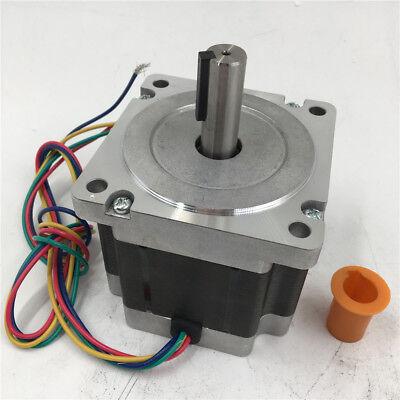 2ph Keyway Nema34 Stepper Motor 12nm L150mm 6a 4wire For Engraving Machine