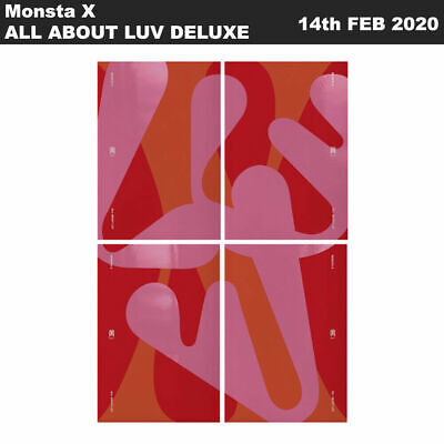 Monsta X ALL ABOUT LUV First English Deluxe Album 4SET CD+Photobook+Card+Etc