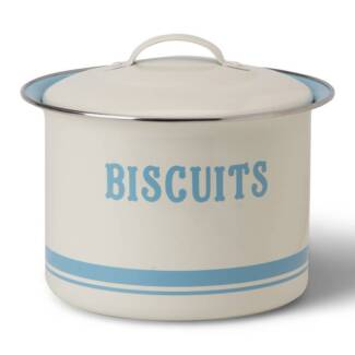 French Country Farmhouse Metal Biscuit Barrel Tin