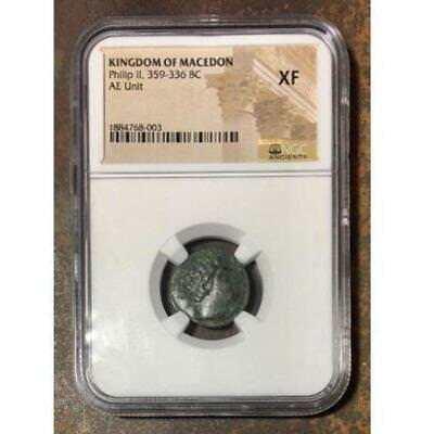 Kingdom of Macedon Philip II, 359-336 BC NGC XF ***Rev Tye
