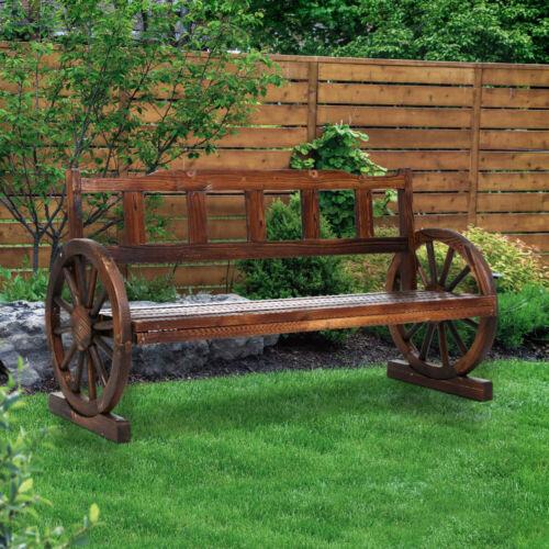 Garden Furniture - Gardeon Wooden Wagon Garden Bench 3 Seat Outdoor Chair Lounge Patio Furniture