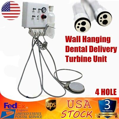 Wall Hanging Dental Delivery Turbine Unit Tube Work Compressor Plastic Shell 4-h