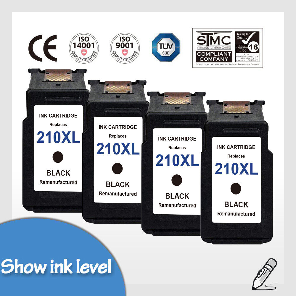 4 PK Ink Cartridge For Canon PG-210XL CL-211XL Black/&Color PIXMA IP2700 MX350