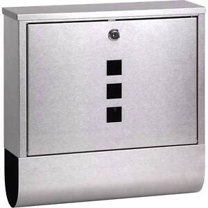 New Quality Modern Sleek Design Mail Box Stainless Steel Metal Canungra Ipswich South Preview