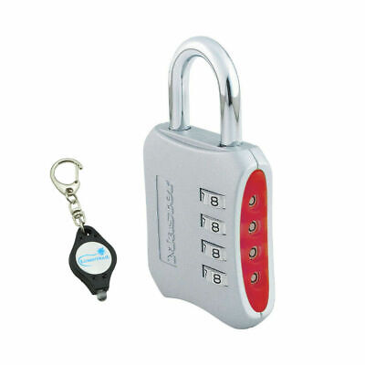 Master Lock 653d Set Your Own Combination Padlock - 2 Keychain Light