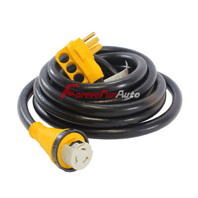 50 Foot 50 Amp RV Extension Power Cord 100% Copper Wires Trailer Motorhome