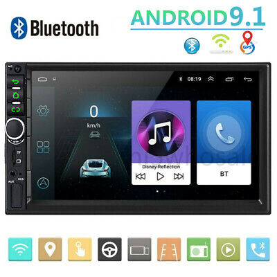 "HD 7"" Android 9.1 Double 2Din Car Stereo Radio FM/MP5 Player Touch Screen GPS"
