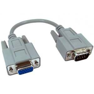 21cm Cable 15 Pin VGA FEMALE to MALE 9 Pin Serial RS232 Adapter Coupler Joiner