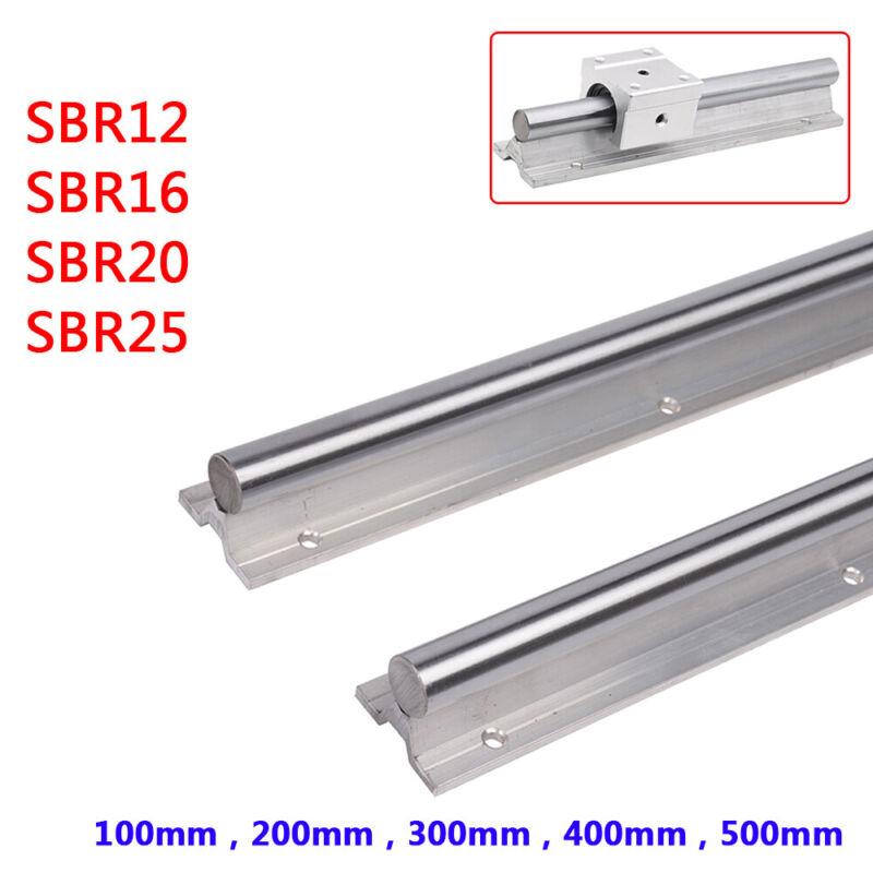 100-500mm Long Linear Motion Shaft Slide Rails for 3D Printer CNC SBR12/16/20/25
