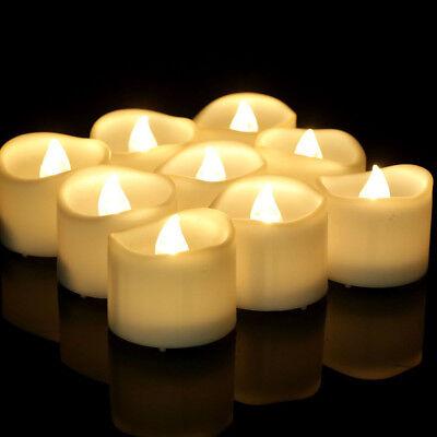 12 x LED flackernde Flammenbatterie Teelichter Flammenlose Kerze mit Timer (Flammenlose Led Tee Lichter)