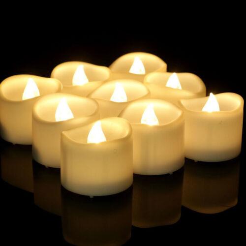 12 x LED flackernde Flammenbatterie Teelichter Flammenlose Kerze mit Timer