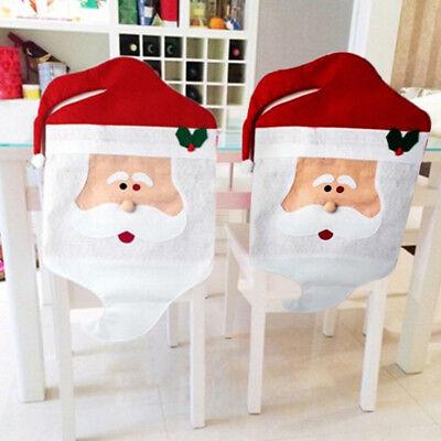 Santa Claus Chair Back Cover Christmas Dinner Table Party Restaurant Decor
