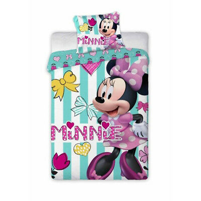 (NEW Minnie Mouse Dreams Baby Toddler Bedding Set 100% COTTON Cot Cotbed 084)