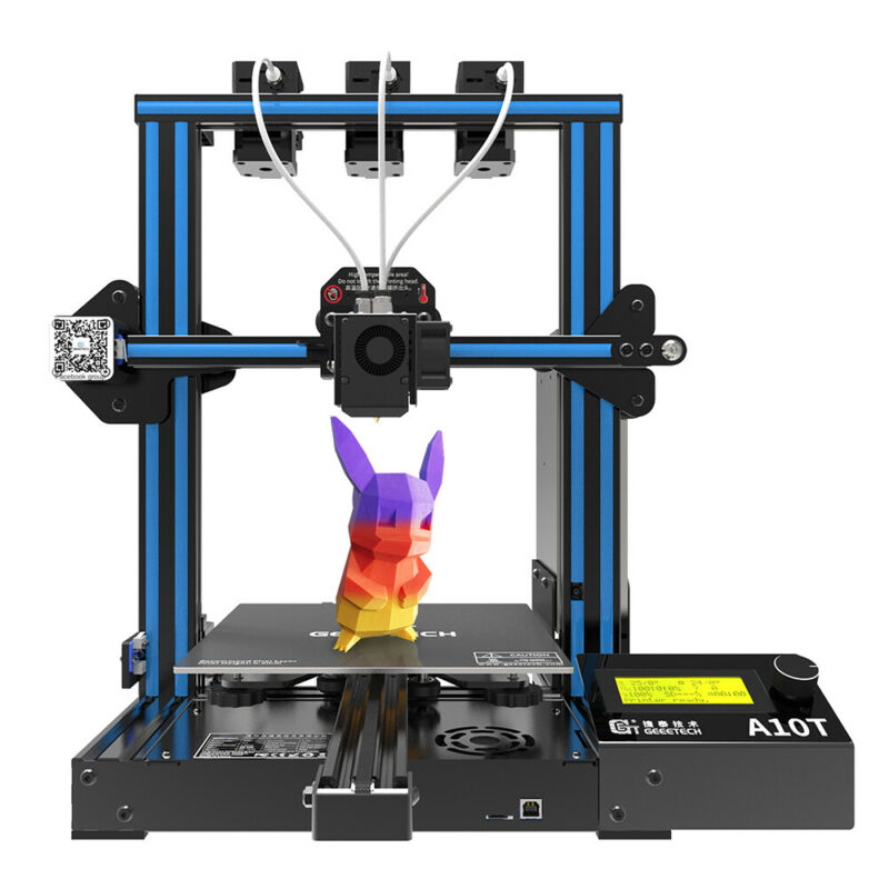 Fast Ship!Geeetech 3D Printer Triple Extruders Mix-color A10T for Auto Level