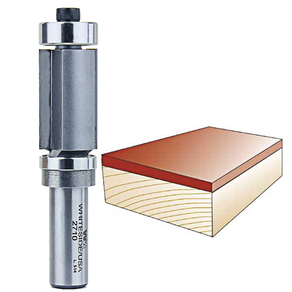 Whiteside Router Bits 2710 Combination Flush Trim Bit with Top and Bottom Bearing