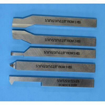 TOOL BIT SET For medium Lathe HSS  5/16 SQUARE BY 3 1/8 LONG Hss Square Tool Bit