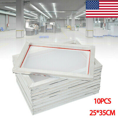 10 Pack - Aluminum Frame Screen Printing Screens - 110 Mesh 10 X 14 Us Stock