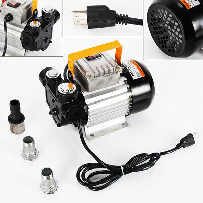Commercial Self Priming Electric Oil Pump Transfer Fuel Diesel 110v Ac 16gpm Us