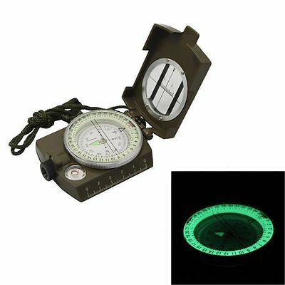 Metal Waterproof Professional Pocket Military Army Geology Compass Navigator
