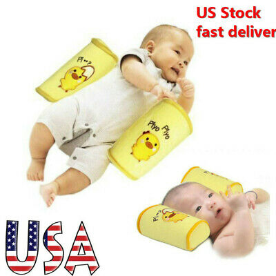 US Baby Newborn Pillow Infant Sleep Cushion Anti Roll Support Prevent Flat Head