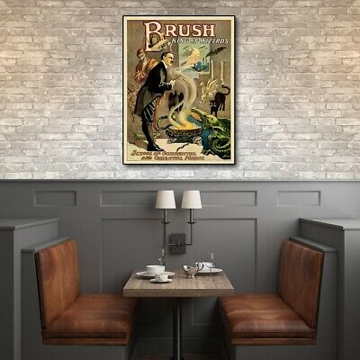8.5 X 11 Vintage-Look Reproduction Brush King Of Wizards 1895 Magic Wall Art - $19.99