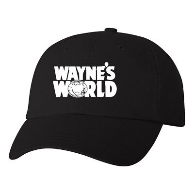 Wayne's World Logo Dad Hat Halloween Costume Classic Party Movie Ball Cap Black](Halloween Movie Logo)