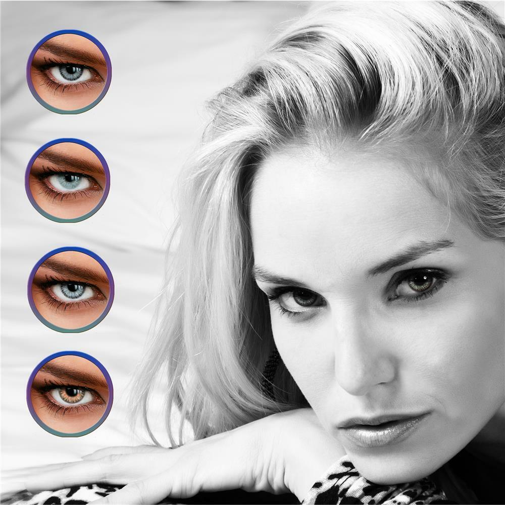 Farbige Kontaktlinsen - Graue und Braune Linsen - LUXDELUX® - Jahreslinsen