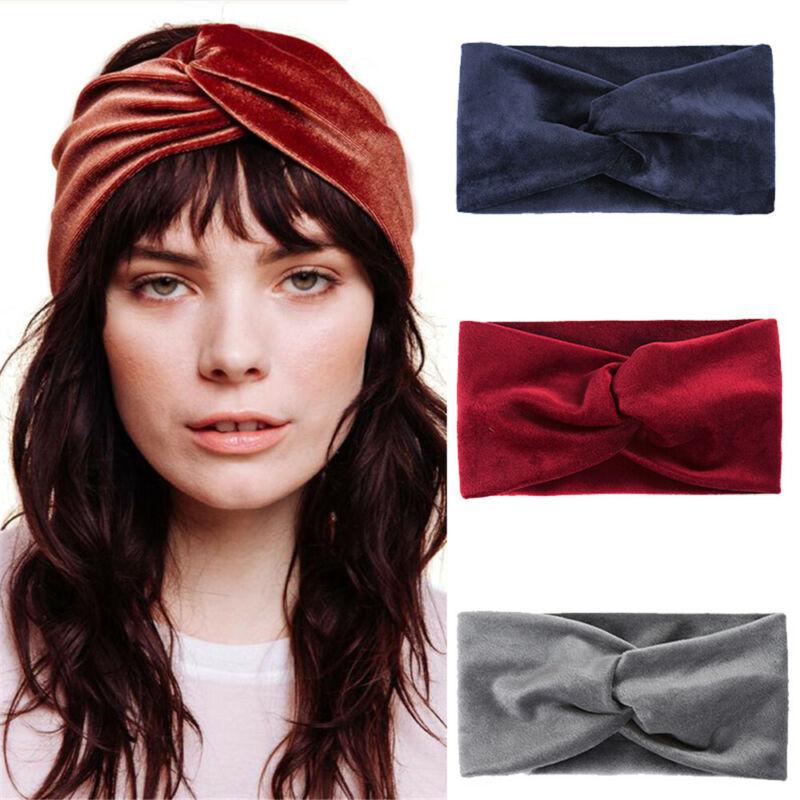 Sports Hair Accessory Velvet Headband Cross Turban Yoga Hair