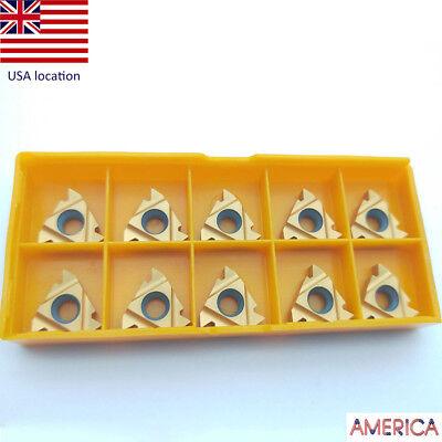 Us- 10pcs 16ir Ag60 Bp010 16ir 38 Ag60 Threaded Turning Inserts Cnc Carbide