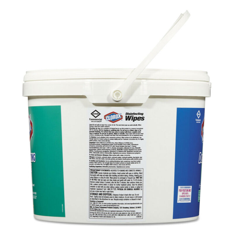 Clorox Disinfecting Wipes, 7 X 7, Fresh Scent, 700/bucket 31547 NEW