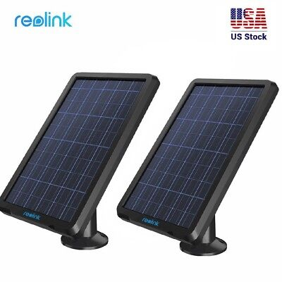2x Solar Panel for Reolink Argus 2 Rechargeable Battery Powered Security Camera