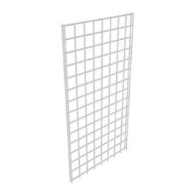 180 x 100 cm GRIDWALL PANEL MESH QUALITY CHROME HEAVY DUTY HOME DECORATION RETAIL SHOP DISPLAY