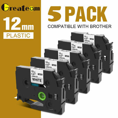 5x Tz-231 Tze-231 Compatible For Brother P-touch Pt-d210 Tape 12mm 8m Laminated