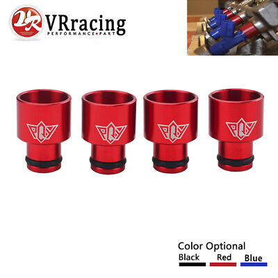 Red Top Hats (Red Fuel Injector Top Hats Adapters For 1988-2000 HONDA CIVIC For 93-97 DEL)