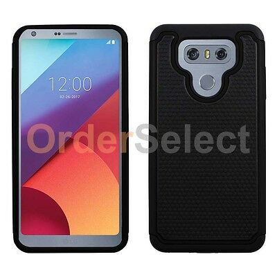 New Hard Protector Case - NEW HOT! Hybrid Rugged Rubber Protector Hard Case for Android Phone LG G6 Black