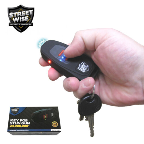 Streetwise Keychain Stun Gun 24,000,000 Battery Status Indicator LED Flashlight