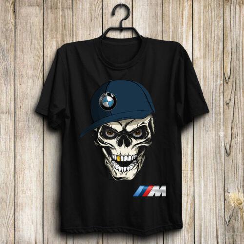 BMW M Skull/M2/M3/M4/M5/M8/X3 M/X4 M/X6 M Men's US T-Shirt Top Gift Halloween