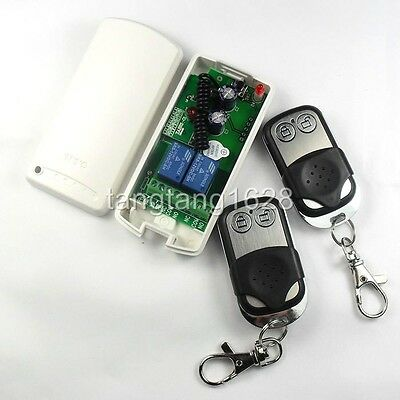 2CH Latch RF Remote Control & Programable Receiver 315M