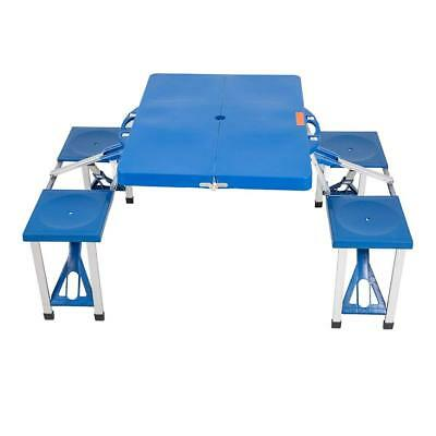 Lightweight  Portable Folding Picnic Table with 4 Seats -