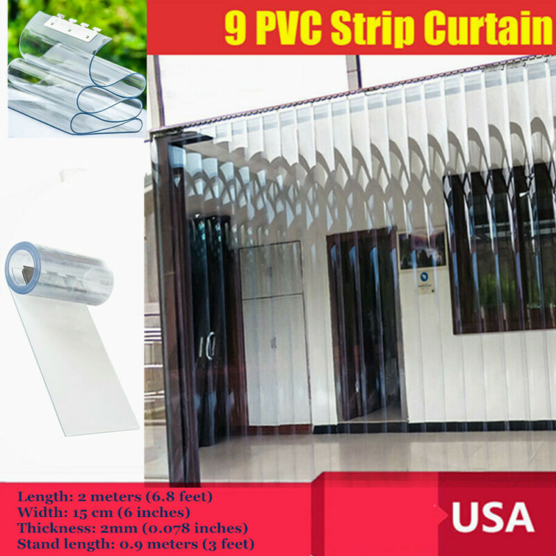 "78.7""*5.9"" 9PVC Strip Door Warehouse Curtain Insulation anti-static,waterproof"