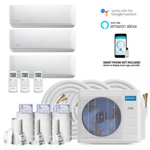 MR COOL DIY 27,000 BTU  3 Zone Ductless Mini-Split  Heat Pump SYSTEM 9+9+9 M A/H
