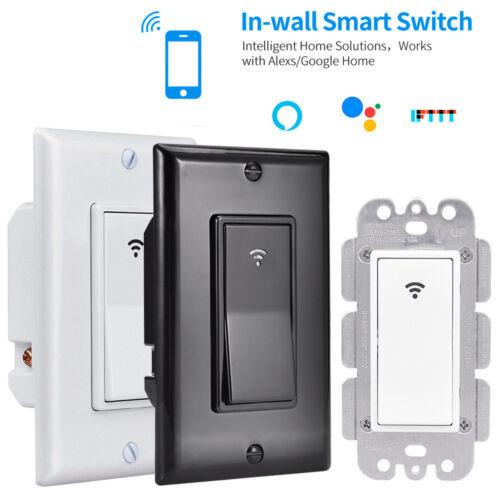 WIFI Smart Wall Light Touch Switch App Timer 1 Gang Alexa Go